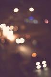 абстрактное bokeh предпосылки Ноча праздника Стоковые Фотографии RF