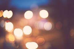 абстрактное bokeh предпосылки Ноча праздника Стоковое Изображение RF