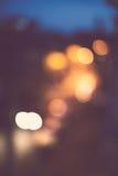 абстрактное bokeh предпосылки Ноча праздника Стоковое Фото