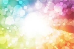 абстрактное bokeh предпосылки объезжает цветастое иллюстрация вектора
