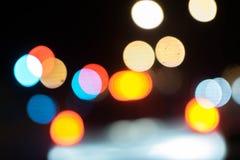 Абстрактное bokeh предпосылки освещения Стоковые Изображения