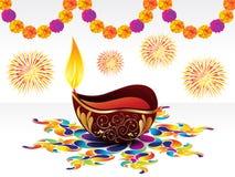 абстрактное diwali предпосылки Стоковая Фотография