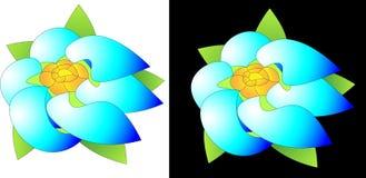 Абстрактное eco цветка и ветра конструирует логотип дела Стоковое Изображение RF