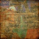 абстрактное grunge карточки предпосылки Стоковая Фотография