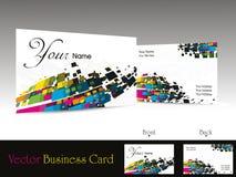 абстрактное illustrati конструкции визитной карточки цветастое Стоковое Изображение RF
