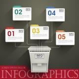 Абстрактное infographics варианта иллюстрация вектора