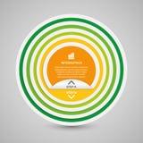 Абстрактное infographics вариантов бумаги круга 3D Стоковые Изображения RF