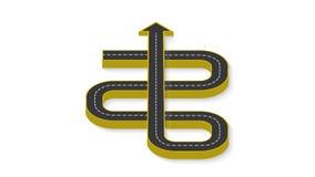 Абстрактное infographics дела в форме дороги автомобиля с дорожными разметками 10 eps Стоковое Фото