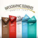 Абстрактное infographics знамени Стоковая Фотография