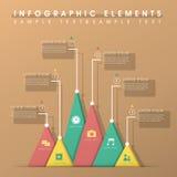 Абстрактное infographics диаграммы треугольника Стоковое фото RF