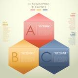 Абстрактное infographics шестиугольника 3d. иллюстрация штока