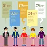 Абстрактное infographics людей пиксела Стоковое Фото