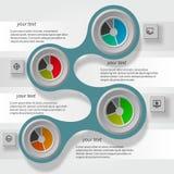 Абстрактное infographics shadow1 metaball Стоковые Изображения