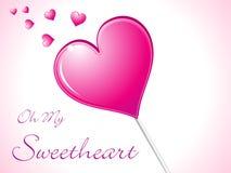 абстрактное lolipop сердца конфеты глянцеватое бесплатная иллюстрация