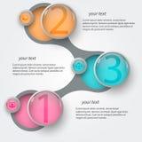Абстрактное metaball infographics2 Стоковая Фотография RF