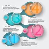 Абстрактное metaball infographics2 Стоковое Изображение RF