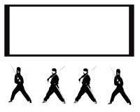 абстрактное ninja предпосылки Стоковое Изображение