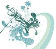 абстрактное waterski лета иллюстрация штока