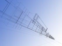 абстрактное wireframe Стоковое Изображение RF