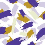 Абстрактной безшовной нарисованная рукой картина щетки Стоковое фото RF