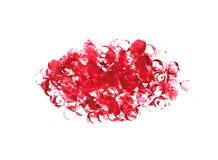 Абстрактной бургундской предпосылка цвета покрашенная акварелью Стоковое Изображение