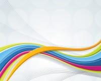 абстрактной волнистое смешанное предпосылкой Стоковое фото RF