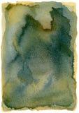 Абстрактной изолированная акварелью рамка Grunge (Highres) Стоковая Фотография RF