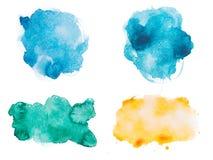 Абстрактной красочное aquarelle акварели нарисованное рукой Стоковая Фотография RF