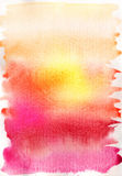 абстрактной нарисованная предпосылкой акварель руки Стоковые Изображения RF