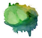 абстрактной нарисованная предпосылкой акварель руки Стоковые Фото
