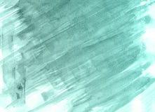 Абстрактной нарисованная рукой зеленая предпосылка акварели, иллюстрация растра иллюстрация штока