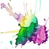 Абстрактной нарисованная рукой помарка акварели Стоковое Фото