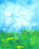 Абстрактной нарисованная рукой предпосылка акварели Стоковые Изображения