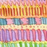 Абстрактной покрашенная акварелью предпосылка орнамента Бумажный текст Стоковые Фото