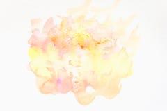 Абстрактной покрашенная рукой предпосылка акварели на бумаге текстура для творческого художественного произведения обоев или диза стоковые фото