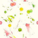 Абстрактной предпосылка акварели покрашенная рукой безшовная Стоковая Фотография RF