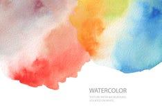 Абстрактной предпосылка акварели покрашенная помаркой бумажная текстура Isol стоковая фотография rf