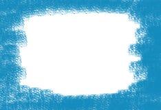 Абстрактной пятно предпосылки побеленное рамкой на холсте покрасило голубую краску Стоковая Фотография RF