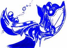 Абстрактной формы нарисованные рукой футуристические Стоковое Фото