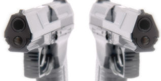 абстрактные автоматические личные огнестрельные оружия Стоковые Изображения RF