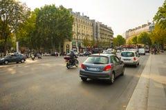 абстрактные автомобили нерезкости красят версию улицы изображения влияния Стоковое фото RF