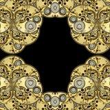 абстрактные античные clockworks предпосылки Стоковое фото RF