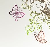 абстрактные бабочки предпосылки флористические бесплатная иллюстрация