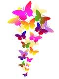 абстрактные бабочки предпосылки Бесплатная Иллюстрация