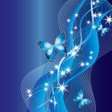 абстрактные бабочки предпосылки Стоковые Фотографии RF