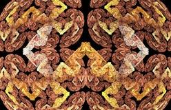 Абстрактные бабочки фрактали на черной предпосылке Стоковые Изображения RF