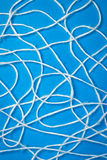 Абстрактные белые шнуры шерстей Стоковое фото RF