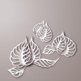 Абстрактные бумажные цветки 3D Стоковая Фотография