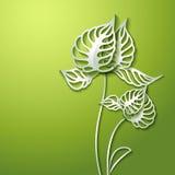 Абстрактные бумажные цветки 3D Стоковые Изображения