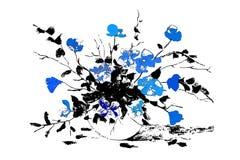 Абстрактные вазы с цветками элементы конструкции предпосылки 4 снежинки белой изолировано также вектор иллюстрации притяжки corel стоковые изображения